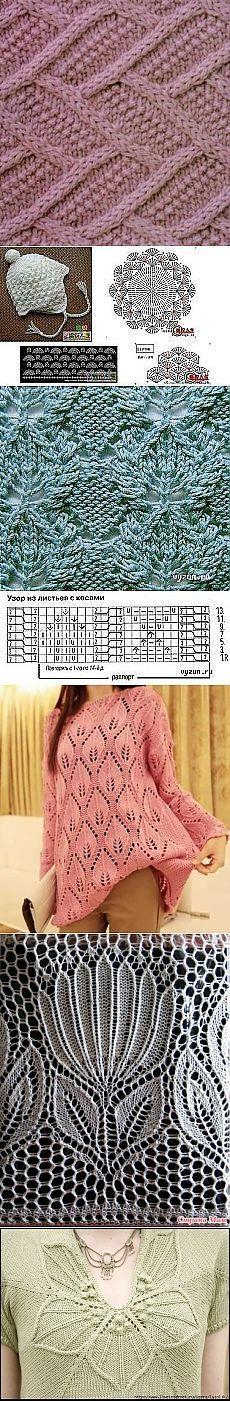 Для тех, кто вяжет спицами. / Вязание спицами / Вязание для женщин спицами. Схемы