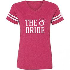 The Bride Diamond: Misses Football T-Shirt S Vintage Hot Pink Bridal Party Tees http://www.amazon.com/dp/B013V395YO/ref=cm_sw_r_pi_dp_HBeHwb14HFEJP