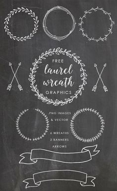 free laurel wreath graphics clip art                              …