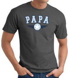 Papa Father Dad T-shirt - Adult Tee Shirt - Charcoal