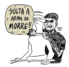 Solta a arma ou morre! Por Vitor Teixeira (via https://www.facebook.com/vitortegom?fref=photo)