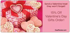Looking for discounts on tempting Valentine's Day gourmet gifts? Cheryl and Co. is offering 15% off Valentine's Day gifts order.