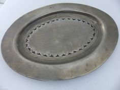 Pair of Good Early Decorated Pewter Plates Extremely RARE Fully Marked L K | eBay