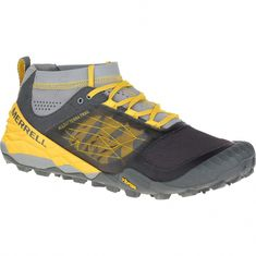hot sale online 40ad3 8e9f6 New Merrell All Out Terra Trail Mens Hiking Shoes   Grey   Yellow   Size 8