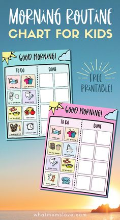 FREE Printable Morning Routine Chart for Kids | Customize this checklist to help your children be independent in their daily morning tasks and chores. Great for kids of all ages - from toddlers to teens. Perfect as a back-to-school or homeschool routine. Homework Chart, Homework Station, Top Toys For Girls, Morning Routine Chart, Nanny Activities, Routine Printable, Starting School, Charts For Kids, Crafts For Boys