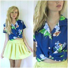hawaiian shirt plus retro skater skirt I need to do this !!!!