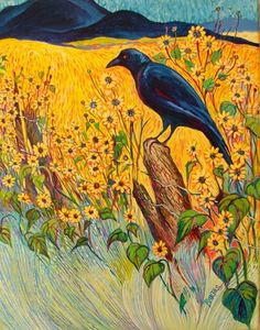Crow by Sally Bartos Crow Art, Bird Art, Raven Bird, Mexico Art, Crows Ravens, Rabe, Native American Artists, Southwest Art, Fine Art Photo