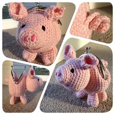 Ravelry: Pig Coin Purse pattern by Laura Sutcliffe