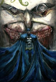 Batman / Joker by Giulio Rincione