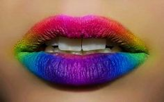 Rain lip art for fashion girls