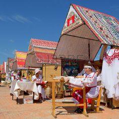 republic of chuvashia: Cheboksary, Chuvashia, Russia - June 24, 2015: Day holiday of the Republic of Chuvashia.