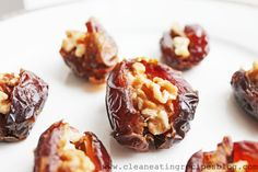 Clean Eating Recipe – Walnut-Stuffed Dates | Clean Eating Recipes - Clean Eating Diet Plan Made Easy