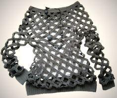DIY Crochet Diamond Open Weave Net Sweater Free Pattern and Video tutorial Crochet Woman, Love Crochet, Beautiful Crochet, Diy Crochet, Crochet Top, Crochet Shirt, Tunic Sweater, Crochet Clothes, Free Pattern