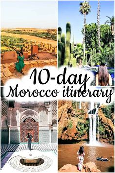 Morocco itinerary - Best places to visit in Morocco - - Although my vacation was a bit shorter, I chose to make a Morocco itinerary because I think this should be the minimum number of days you need to visit the country. Visit Morocco, Morocco Travel, Africa Travel, Visit Marrakech, Cool Places To Visit, Places To Go, Morocco Itinerary, Morocco Honeymoon, Travel Usa