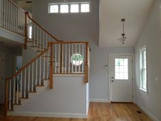We love the #openstairway in this #2storyfoyer of another BROM-built custom beach home.  www.BromBuilders.com
