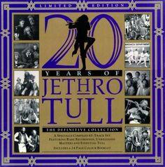 20 Years of Jethro Tull: The Definitive Collection: This is a limited Edition Box Set released in 1988 complete with wonderful booklet. Carnegie Hall, Easy Listening, Lp Cover, Cover Art, Jethro Tull, Band Posters, Music Posters, Live Rock, Theme Noel