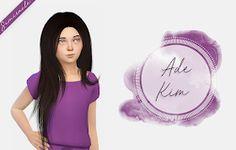 The Sims 4 Mody: Ade Kim - Wersja dla dzieci od Fabienne The Sims, Sims Love, Sims 4 Cas, Sims Cc, Sims 4 Children, 4 Kids, Kim Hair, Sims 4 Toddler, Toddler Stuff