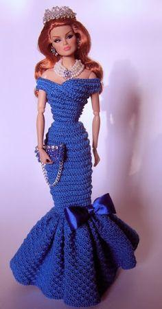 Barbie Crochet Gown, Crochet Barbie Patterns, Barbie Clothes Patterns, Crochet Barbie Clothes, Barbie Dress, Cute Lounge Outfits, Barbie Paper Dolls, American Girl Clothes, Knit Fashion