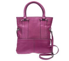 Make headlines with this #RadiantOrchid B. Makowsky Fold Over Magazine Tote! What's a more perfect way to carry the #ColoroftheYear?