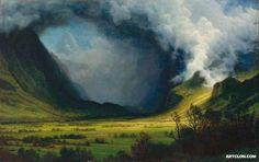 Storm in the Mountains 1870     Storm in the Mountains 1870 -Albert Bierstadt                   Museum:    Museum of Fine Arts,Boston                 Artist:            Albert Bierstadt