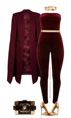 6a8df99db27b Burgundy by efiaeemnxo ❤ liked on Polyvore featuring WithChic