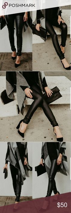 🆕 Matte Faux Leather Leggings❣PREORDER Coming soon 💞  🆕 Matte Faux Leather Leggings - PREORDER  🚫 Trades 🚫 Bundle to save 🚫 True to size Pants Leggings