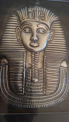 Embossed Pewter Tutankhamun