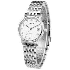 1453b140390 Amazon.com  Comtex Women s Analog-Quartz Stainless Steel Wrist Watch… Dress  Watches