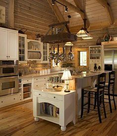 Great kitchen take advantage of how we use dinning room by adding a book shelve or laptop station.