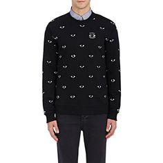 Kenzo Men's French Terry Eyes Sweatshirt (1,160 SAR) ❤ liked on Polyvore featuring men's fashion, men's clothing, men's hoodies, men's sweatshirts, black, mens graphic sweatshirts, mens crewneck sweatshirts, mens sweatshirts, mens graphic crew neck sweatshirts and kenzo mens sweatshirt