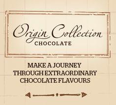 ČOKOLÁDA SINGLE ORIGIN Callebaut® vás s čokoládami Origin Collection podporuje ve své každodenní cestě za mimořádnými chuťovými kombinacemi. Jednotlivé čokolády Single Origin se vyrábí z kakaových bobů konkrétní země nebo regionu. Každá čokoláda vám přináší vzrušující chuť a aromatický charakter - odrážející půdu, klima a životní prostředí, kde se kakaové boby pěstují. Stejně jako u vína se chuť těchto čokolád může s každou sklizní mírně měnit.