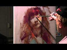 "Nelson Shanks Painting Demonstration ""The model Alina"""