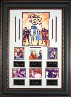 The Wizard of Oz Movie Cast Framed Masterpiece Collage It Movie Cast, It Cast, Wizard Of Oz 1939, Charity, Gallery Wall, Auction, Collage, Entertaining, Frame