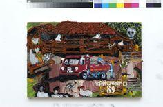 """Em """"O Jogo dos sete erros"""", em cartaz até 31 de outubro na Galeria Estação, o artista Rodrigo Andrade apresenta suas releituras de obras Sebastião Theodoro Paulino da Silva (1923- 2003), mais conhecido como Ranchinho. A entrada é Catraca Livre."""