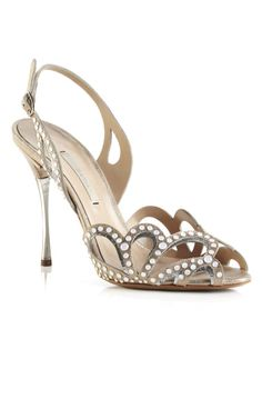 Shop Champagne Studded Sandal by Nicholas Kirkwood for Preorder on Moda Operandi
