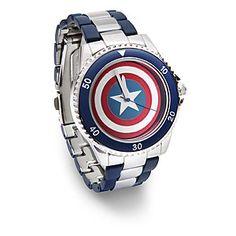 ThinkGeek :: Captain America Shield Watch