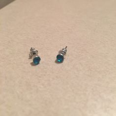 Blue Stud Earrings Pretty blue studded earrings. Never worn. Jewelry Earrings