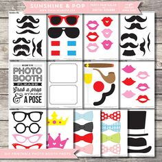 INSTANT DOWNLOAD  DIY Mustache Photo booth