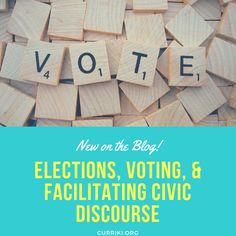 Now is a great time to introduce students to the election process and their amazing right and responsibility to participate in democracy as they become adults. We've pulled together resources on the history of elections, voting, and even facilitating civil discourse in the classroom!
