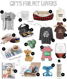 I had to add this category in because if you're an animal lover like me you LOVE getting gifts themed around your pets! I rounded up a ton of cute ideas to give to the pet lover in your life! Dog Mom Gifts, Gifts For Pet Lovers, Cat Gifts, Gifts For Dogs, New Puppy Checklist, Dog Accessories, Puppy Love, Fur Babies, Gift Guide
