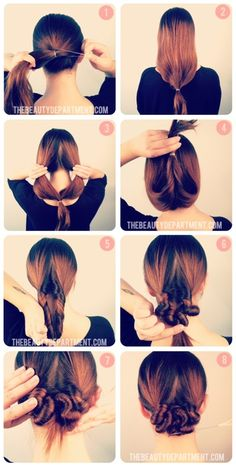 This looks interesting... The Beauty Department: Your Daily Dose of Pretty. -   A TWIST ON THE LOW BUN