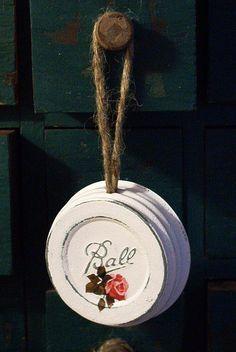 ball mason jar ornament fruit canning lid upcycled by sparkklejar