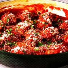 These meatballs don t have any bread crumbs and hold together with a little help from ricotta and Parmesan They are light and airy with tons of flavor and the sauce brings it all together Get the recipe at Italian Turkey Meatballs, Ground Turkey Meatballs, Recipe For Turkey Meatballs, Turkey Meatball Sauce, Healthy Meatballs, Jelly Meatballs, Meat Recipes, Cooking Recipes, Healthy Recipes