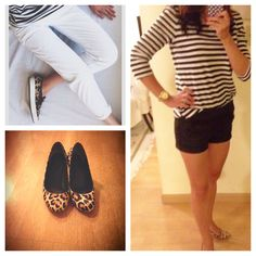 Inspired by Pinterest. Stripes with leopard shoes.