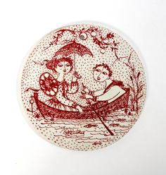 bjorn wiinblad wall plaque platte plate nymolle by northvintage