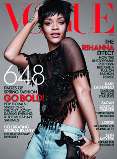 Rihanna photographed by David Sims. Source: Courtesy of Vogue March 2014  www.trendencias.com