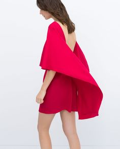 Low Back Cape Dress | ZARA