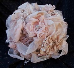 vintage shabby wedding bouquet with feathers - Yahoo Image Search Results