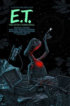 ET the Extra Terrestrial Movie Poster [Variant Mondo 2017] by Jonathan Burton