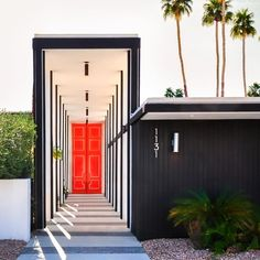 Make a statement before they walk in the door. Restaurant Entrance, Art Restaurant, California Architecture, Architecture Design, Residential Landscaping, Interior And Exterior, Interior Design, Exterior Homes, Grand Entrance
